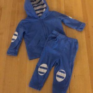 Aden & Anais blue jogging suit